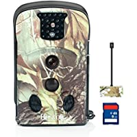 Bestok Hunting Camera Wide Angle 120 Degree Night Vision With Straps 8G Memory Card No glow No flash Long Standby Time Wildlife Camera with SD Card Outdoor Reader