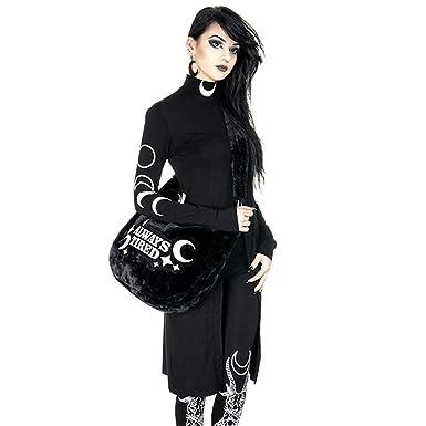Vestido Dividido con Cuello Alto y Manga Larga con Estampado Punk Gótico para Mujer,Mujer Gothic Retro Punk Chaqueta Disfraces Fiesta Ropa de Abrigo ...