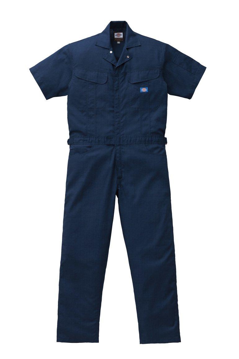 ディッキーズ Dickies (山田辰)夏用半袖 ツヅキ服 1111 ネイビーブルー Lサイズ B00SMM688G L ネイビーブルー