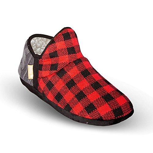 Pudus Unisex Unisex Brodie M S Pudus Slippers Adult Red Lumberjack q6qrwpE