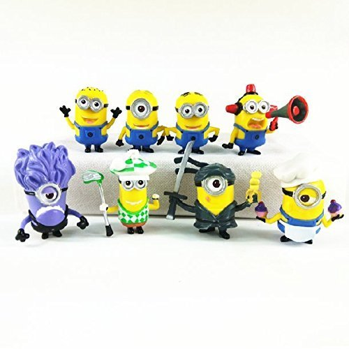Despicable Me Minions Set of 8 Action Figures included Minion Ninja Fireman Baker Golfer Stuart Dave by Forti ()