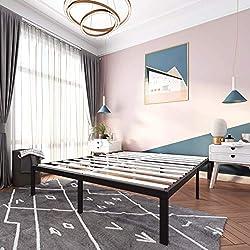 related image of 14 Inch Metal Platform Bed Frames / Wood