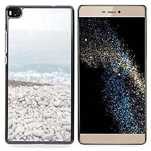 Stuss Case / Funda Carcasa protectora - Beach Stones Waves Blue Sea Horizonte - Huawei Ascend P8 (Not for P8 Lite)