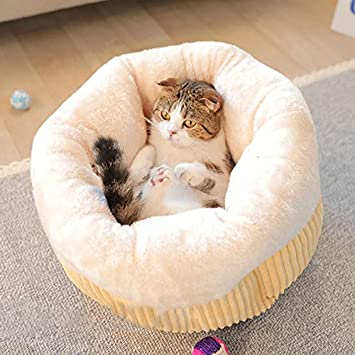 Amazon.com : Thicken Warm Pet Cat Bed House for Cats Winter Cat Sleeping Cushion Beds Kedi Evi Cama Gatos Productos para Mascotas Supplies : Pet Supplies