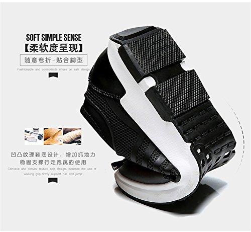 Scarpe Da Ginnastica Da Uomo Casual Moda Paio Sneakers Nere