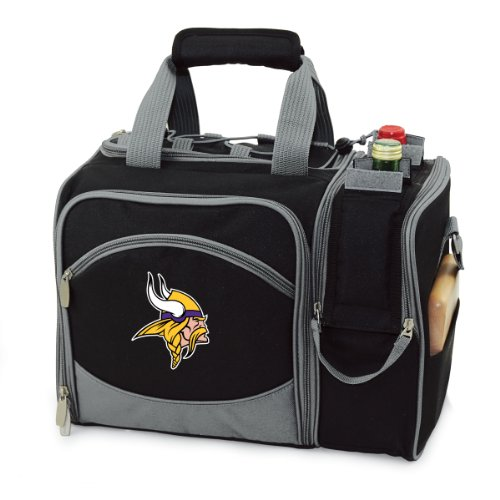NFL Minnesota Vikings Malibu Insulated Shoulder Pack with Deluxe Picnic Service for Two ()