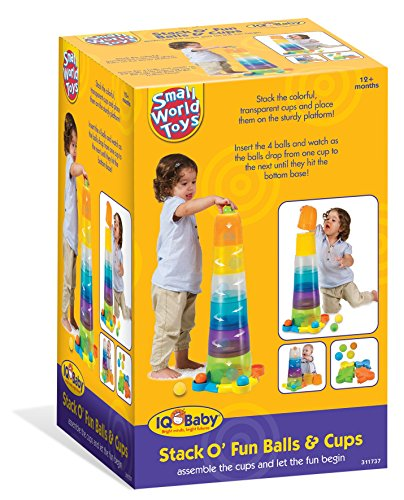 51oEkNyWhRL - Small World Toys IQ Baby - Stack o' Fun Balls and Cups Set B/O