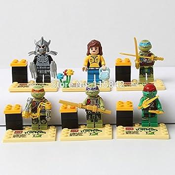 Amazon.com: JLB 6pcs/lot Ninja turtles TMNT minifigures ...