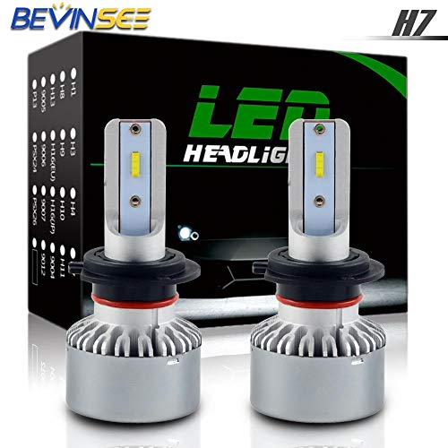 (Iris-Shop - CSP LED Headlight Bulb 60W 6000K High Low Beam For Honda CBR600F F4I 2001-2006 2002 2003 2004 2005 CBR600 F 4I CBR 600)