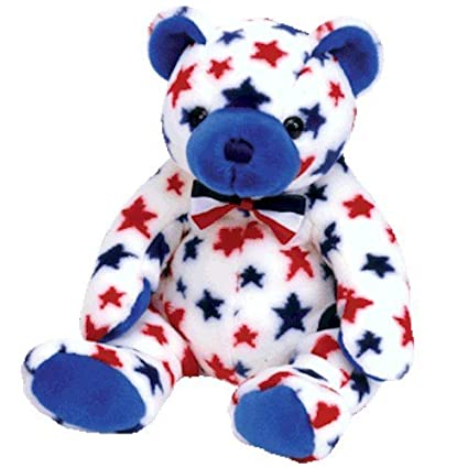 Amazon.com  Beanie Buddies Ty Blue - Bear  Toys   Games d6167c3f0d9a