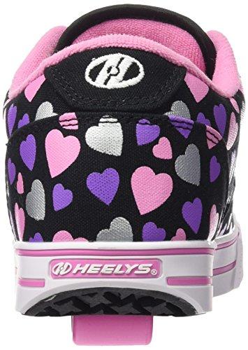 Little BLACK MULTI Skate Toddler Kid Big Heelys HEARTS Shoe Launch Kid 8OAzI