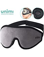 Unimi Antifaz para Dormir contorneada 3D Mejorada Máscara de Dormir, Espuma de Memoria Transpirable y Ultra Suave máscara para Ojos para Dormir, 100% de Sombra de Ojos Blackout Blindfold Eye Cover.
