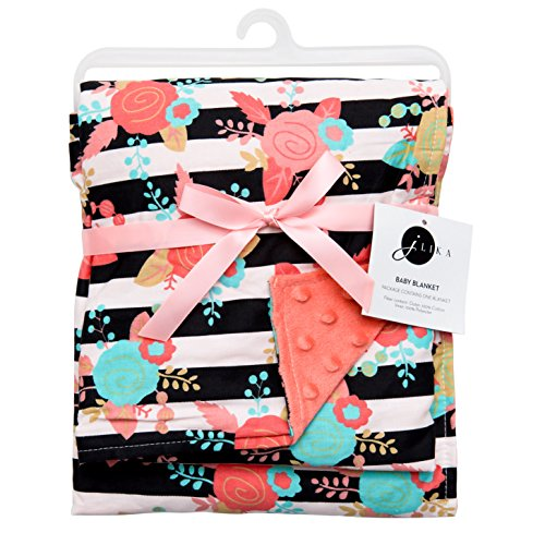 JLIKA Baby Blanket for Girls Swaddle Newborn Receiving Blankets - Coral (30