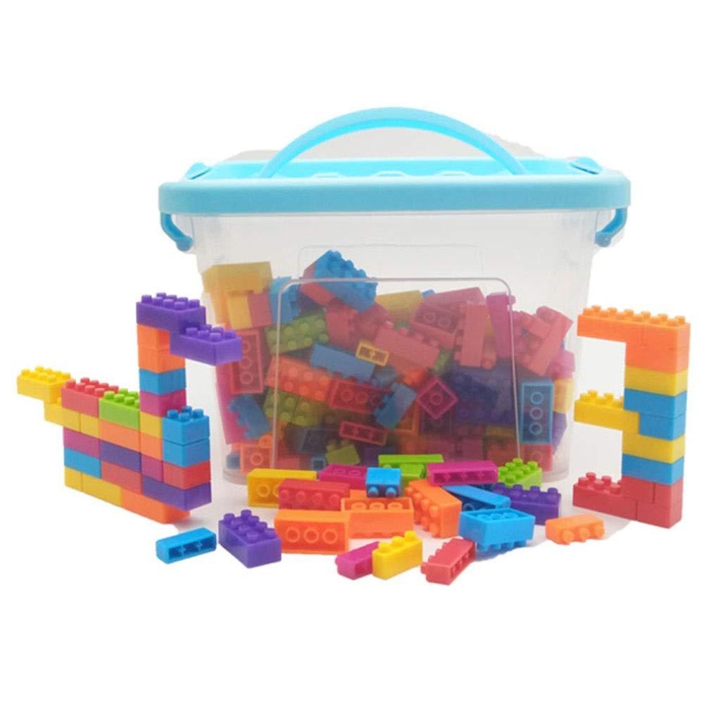 AUMING Costruzioni Costruire Giocattoli per Bambini 180-360-500 Set Giocattoli educativi per Costruzioni con Scatola di immagazzinaggio (Dimensione   L)