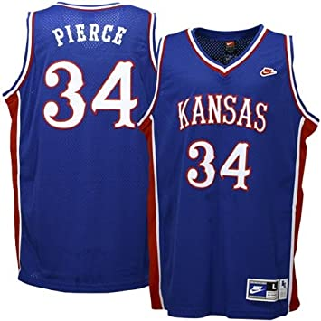 free shipping e15a3 18b64 Amazon.com : Nike Kansas Jayhawks #34 Paul Pierce Royal ...