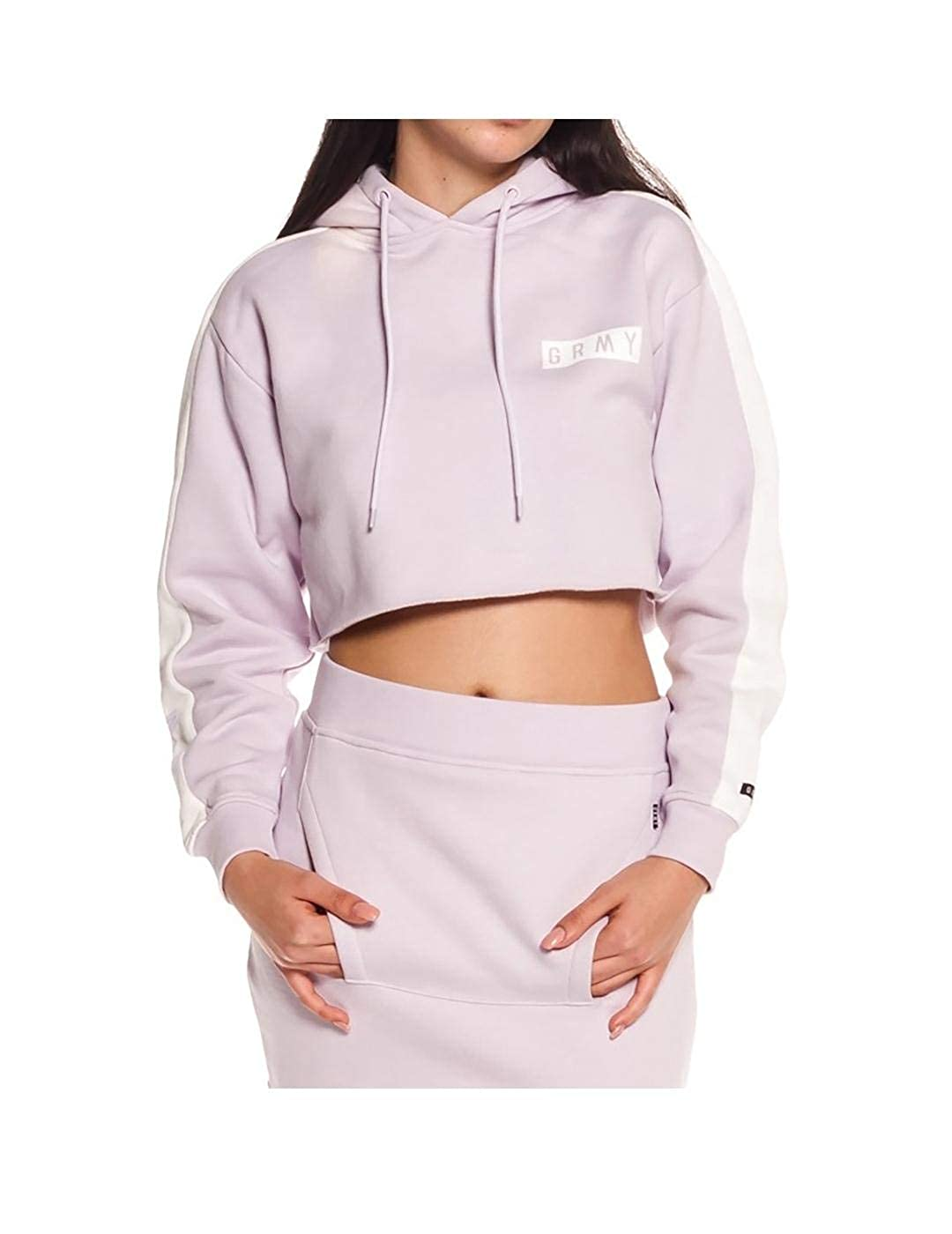GRIMEY Sudadera Chica ASHE Crop Hoodie SS18 Lilac