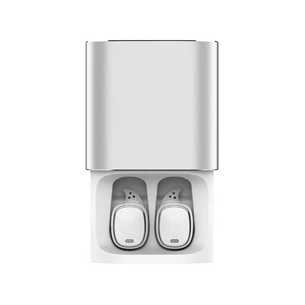 Enjoyall Bluetoothヘッドセット プロタッチコントロールワイヤレスイヤホン マイク付き ハンズフリー音楽イヤホン 750mAh充電ボックス, ホワイト, DE0050801-BANKSS B07KVB6263 ホワイト