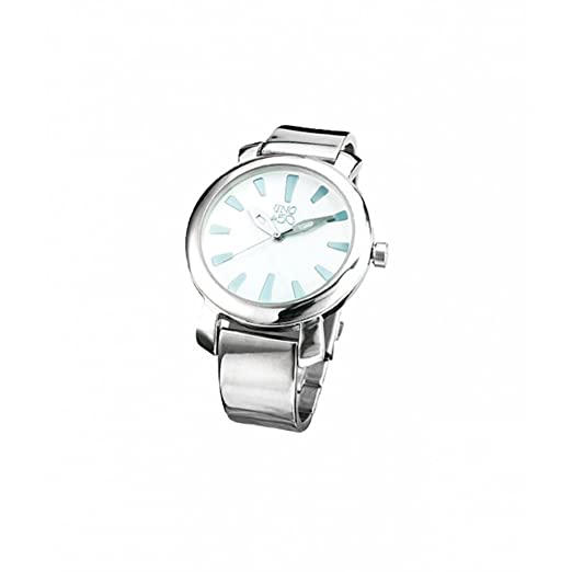 Reloj Uno de 50 Cuenta Atrás REL0136BLNMTL0U Mujer Blanco: Amazon.es: Relojes