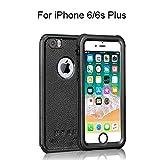 IPhone 6 Plus/6s Plus Waterproof Case, HiMoliwa Waterproof Case(5.5in) OL Series 6.6ft Underwater Waterproof Shockproof Dustproof Snowproof Case with Vehicle-Mounted Design (Black)