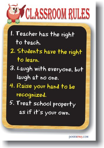 Classroom Rules - Classroom Motivational Poster