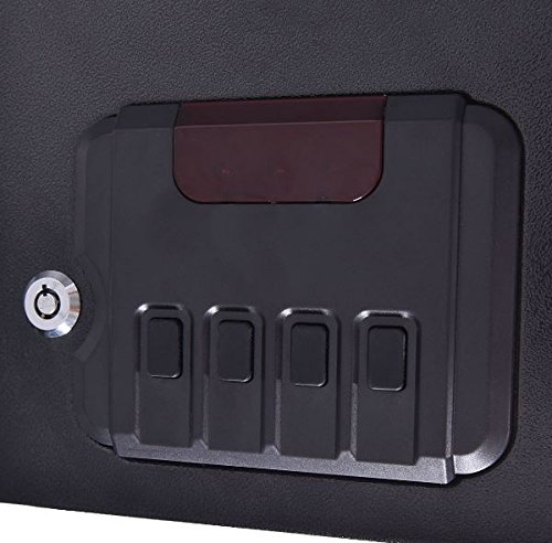 K&A Company Safe Lock Pistol Quick Access Electronic Gun Biometric Fingerprint Stack Single Hand Cabinet Wall Mount Security Sentrysafe Tracker Black by K&A Company (Image #4)