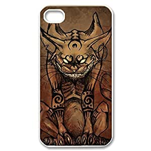 Amazing Painting Design After with Cheshire Cat Quotes water We Are All Mad Your Here Thin & Strong Plastic Shell Cover for the iPhone 5s -White030909