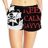 Talk Like A Pirate Day Keep Calm Savvy Beach Shorts Summer Cute Women Swim Shorts Swimsuit Trunks WHENLUCKY