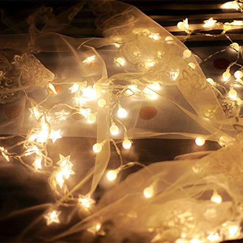 Nufelans_String Light 2.5M 20LED Fairy Lamp for Window Curtain Lights String Lamp Decorative Lights for Party Outdoor (Warm White) by Nufelans_String Light (Image #3)
