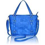 Image of Crossbody Bags for Women,ZMSnow PU Leather Fashion Satchel Shoulder Handbags (4-Blue)