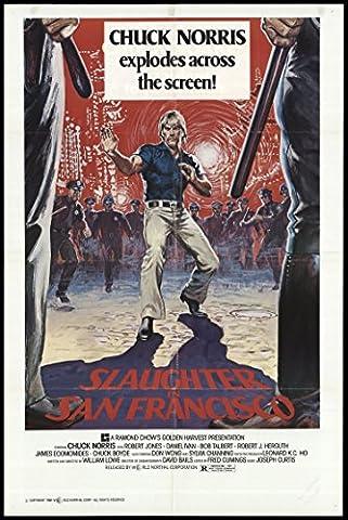 Huang mian lao hu (aka Slaughter In San Francisco) 1981 ORIGINAL MOVIE POSTER - Dimensions: 27