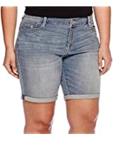 D&B PLUS SIZE WOMEN'S Stretch premium BLUE denim jeans shorts