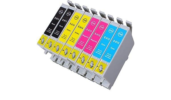 8 Multipack de alta capacidad Epson T0615 Cartuchos Compatibles 2 ...