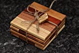 Set of Natural Wood Coasters (Padauk)