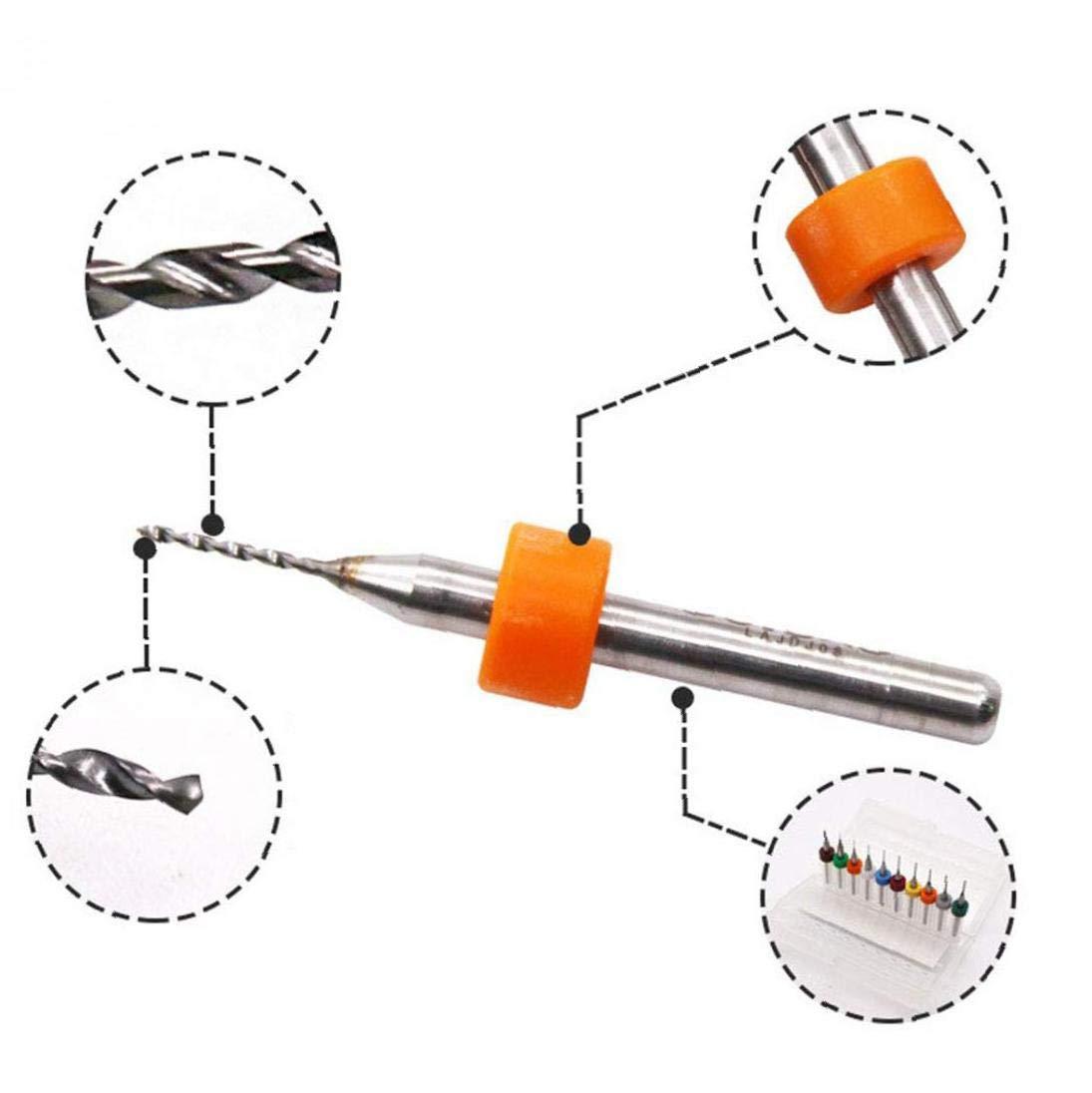 Le Tungst/ène M/étal Forets En Acier Mini Micro Incision Forets PCB Imprimer Circuit Carbure Forets Micro Bricolage Accessoires 1R/égler 0.3-1.2mm
