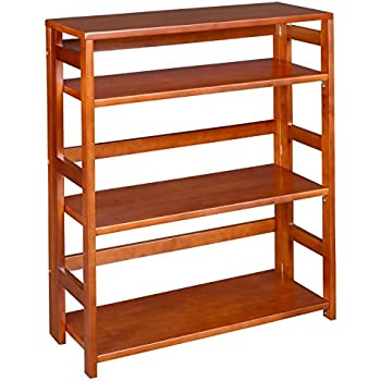 wood folding foldable storage freestanding stackable shelving bookcase java solid s bookshelf