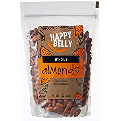 Happy Belly Whole Raw Almonds, 16 Oz, Pack of 2