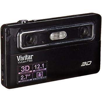 Vivitar Vivicam 3D T135 12.1MP 4X Digital Zoom Digital Camera Black
