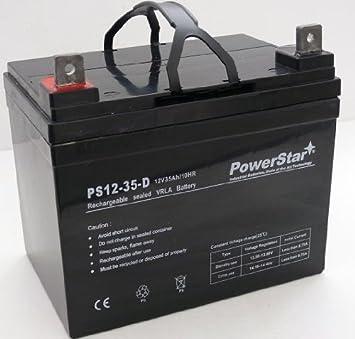 Amazon.com: Powerstar agm1235 – 213 – 12 V, 35 Ah batería ...