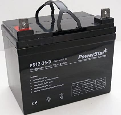 Amazon.com: Powerstar agm1235 – 213 – 12 V, 35 Ah batería ...