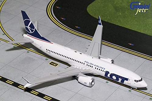 Price comparison product image Gemini200 LOT Polish Airlines B737 MAX 8 SP-LVA 1:200 Scale Diecast Model Airplane,  White