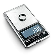 Flexzion Jewelry Scale Digital Mini Diamond Gold Coin Small Items Weight Gram Weigh Pocket Tool LCD Display 300g x 0.01g Precision Portable 7 Unit Switch Silver