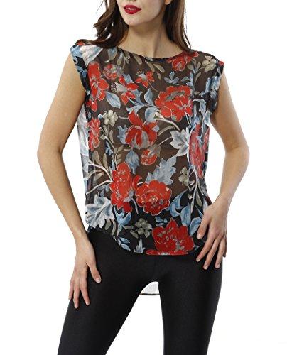 Chiffon Floral Tunic - 1