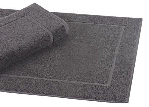 Betz Badvorleger Größe 50x70 cm 100% Baumwolle Badematte Badteppich Duschvorlage Premium Qualität 650 g/m² Farbe Anthrazit Grau