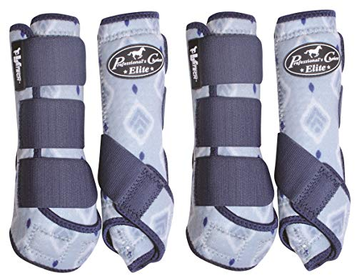 Professional's Choice Ventech Elite 4 Pack Horse Equine SMB Medicine Boots Summer Collection Boho (Medium) ()