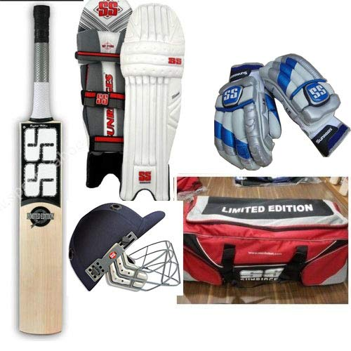 SS Limited Edition 1st Grade Full Cricket Kit (Bat, Pads, Gloves, Helmet, Bag) Used by Many International Players with Fast Delivery