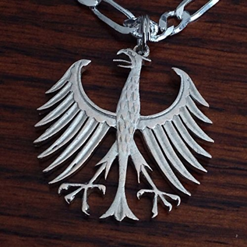 Amazon German Five Mark Cut Out Coin Jewelry Necklace Germany