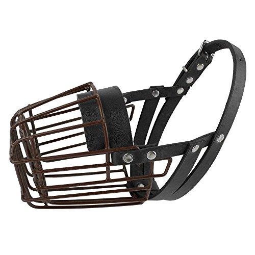 Epyen (TM) Negro cesta para perros Bozales anti-Bite ajustables 3 tama?os