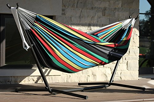 Eclipse Collection Vivere's Combo - Double Rio Night Hammock with Stand (9ft) New by Eclipse Curtains