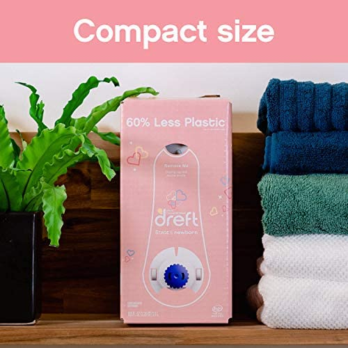 51oErY3p6RL. AC - Dreft Stage 1: Newborn, Ultra Concentrated Liquid Laundry Baby Detergent Eco-Box, HE Compatible, 105 Fl Oz, 96 Loads
