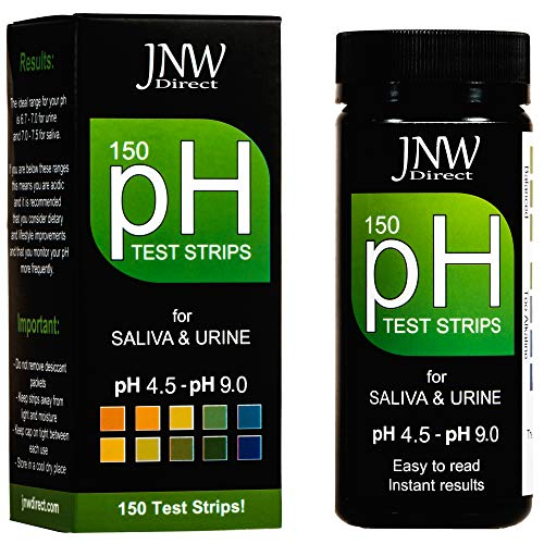 - pH Test Strips, 150 Saliva and Urine pH Test Strips for Testing Body Acidity & Alkalinity, Perfect Kit to Monitor Your Alkaline Weight Loss Diet